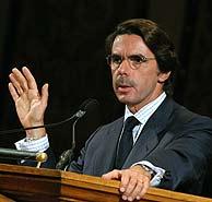 José María Aznar, en su discurso en la Universidad de Georgetown. (EFE)