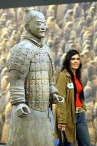 La exposición de 'Los Guerreros de Xian' ha sido una de la grandes atracciones del Fórum. (Antonio Moreno)