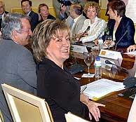 La ministra María Jesús San Segundo durante la reunión con los representantes de las CCAA. (EFE)
