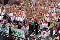 Los manifestantes han reclamado más atención para la provincia (EFE)