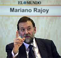 Mariano Rajoy, durante el FORO de EL MUNDO. (Ayma)