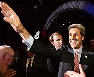 Kerry, antes de un mitin en Las Vegas. (AFP)