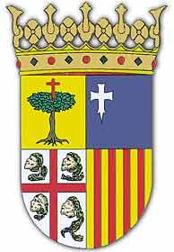 El escudo de Aragón.