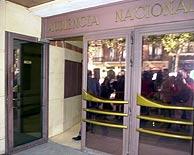 Entrada a la Audiencia Nacional. (EL MUNDO)