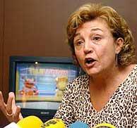 Carmen Caffarel en la presentación del documento. (EFE)
