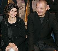 Tautou y Jeunet, en la presentación el filme en París. (Foto: AP)