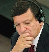 Durão Barroso, en el Pleno. (AP)
