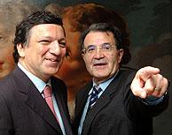 Durão Barroso y Romano Prodi, en una imagen de archivo. (Reuters)