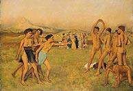 'Ejercicio de jóvenes espartanos', una de las obras de la exposición. (Foto: National Gallery)