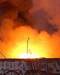 Imagen del incendio. (EFE)