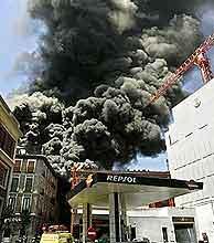 Imagen del incendio del pasado 15 de julio. (EFE)