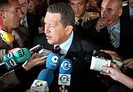 Hugo Chávez, en el Senado. (EFE)