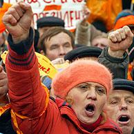 Manifestantes en las calles de Kiev. (Reuters)
