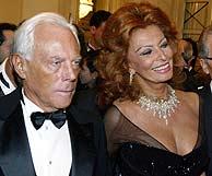 Armani y Loren, en la primera noche de La Scala. (Foto: AFP)