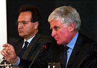 Paolo Vasile y Maurizio Carlotti durante su intervención. (Foto: Chema Tejeda)