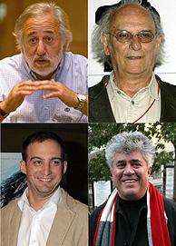 Aristaraín, Saura, Amenábar y Almodóvar se disputarán el Goya a Mejor Dirección. (Foto: EFE)