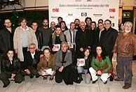 Los directores del documental posan en la foto de familia. (EFE)