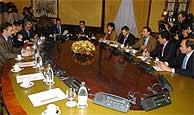 Reunión del Pacto Antiterrorista. (Foto: EFE)