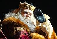 El rey Melchor, en Madrid. (Foto: Kike Para)
