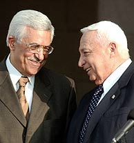 Mazen y Sharon, en una foto tomada en 2003. (Foto: AP)