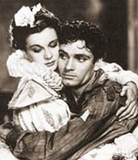 Vivien Leigh e Lawrence Olivier , em 'Fire na Inglaterra' (1937)'Fuego sobre Inglaterra' (1937)