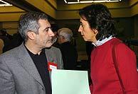 Llamazares con Aguilar. (Foto: EFE)