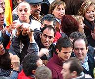 El intento de agresión a José Bono. (Foto: EFE)