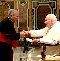 Rouco Varela y el Papa en un momento de su encuentro. (Foto: Reuters)
