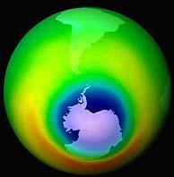 Imagen de archivo del 'agujero' de ozono (en azul). (Foto: NASA)