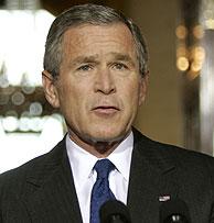 Bush durante su comparecencia. (Foto: AP)