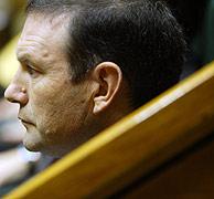 El 'lehendakari' durante su elección para defender su Plan en el Congreso. (Foto: EL MUNDO)