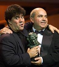 Pedro y Agustín Almodóvar en una imagen de archivo. (Foto: EL MUNDO)