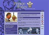 Imagen del sitio del príncipe de Gales en Internet.