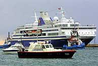 El 'Gran Voyager' es un crucero de 180 metros de eslora. (Foto: Reuters)
