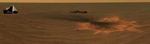 La primera imagen del lugar de amartizaje del 'Opportunity'. (Foto: NASA/JPL)