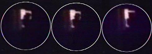 Secuencia del vídeo en el que se aprecian las siluetas tras una ventana del Windsor. (Foto: Telemadrid)