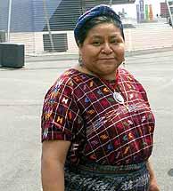 Rigoberta Menchú, activista y Premio Nobel de la Paz. (Foto: S.Cogolludo)