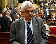Pasqual Maragall durante el debate. (Foto: Domenec Umbert)