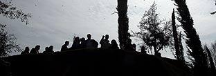 Decenas de personas en el Bosque. (Foto: Carlos Barajas)