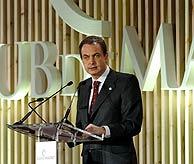 José Luis Rodríguez Zapatero, durante su intervención en el cierre de la Cumbre de Madrid. (Foto: EFE)