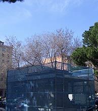 La plataforma de Nuevos Ministerio, ya sin la estatua de Franco. (Foto: O.C)