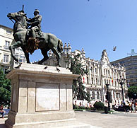 Plaza del Ayuntamiento de Santander. (Foto: El Diario Montañés)