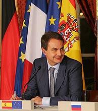 Zapatero, en París. (Foto: EFE)