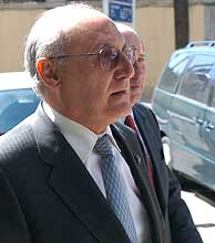 El presidente de la Sala Especial del Supremo, Francisco José Hernando, durante un receso en las deliberaciones. (EFE)