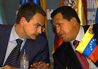 Chávez y Zapatero, durante la rueda de prensa conjunta. (Foto: EFE)
