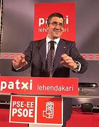 Patxi López, durante la apertura de la campaña. (Foto: EL MUNDO)