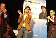 La candidata María San Gil, durante el inicio de la campaña. (Foto: EL MUNDO)