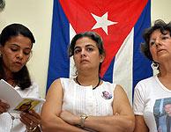 Las 'Damas de Blanco' durante un ayuno reivindicativo. (Foto: EFE)