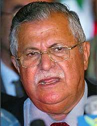 Yalal Talabani, tras ser nombrado presidente. (Foto: REUTERS)