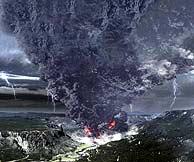 Recreación de la erupción del supervolcán. (Foto: Discovery Channel)